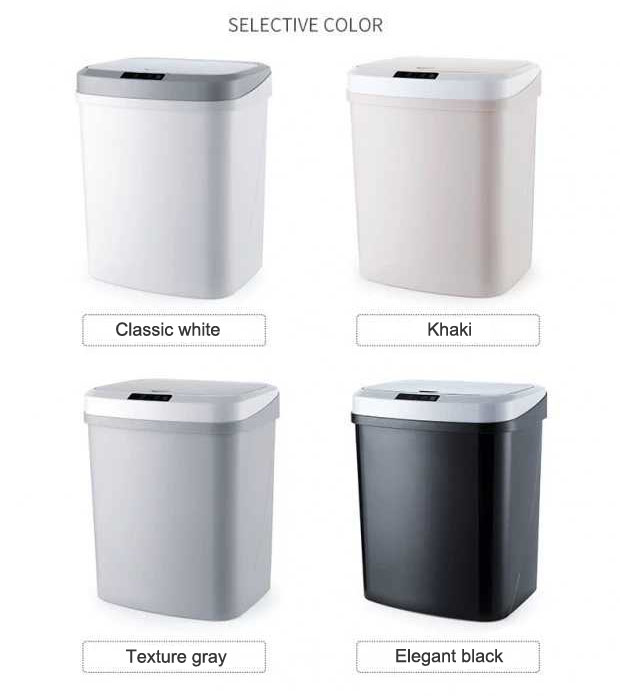 15l Smart Automatic Induction Waste Bins Household Kitchen Garbage Trash Cans General Household Supplies Home Garden